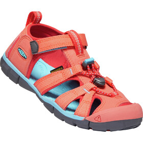 Keen Seacamp II CNX Sandals Ungdom coral/poppy red